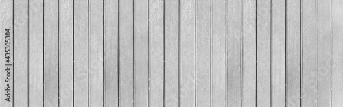 Fotografiet Panorama of New White vintage wooden wall texture and background seamless or a w