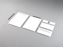 Realistic Stationery Set 3D Illustration Mockup Scene