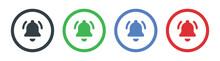 Notification Bell Icons Vector Illustration