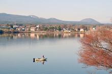 Beautiful Kawaguchi-ko Lake With Blue Tone