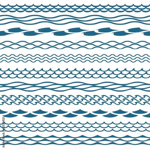 Obraz na plátně Decoration waves clipart