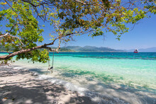 """Beautiful Thailand Travel Island """"Koh Lipe"""" White Sand Beach With Fresh Tree And Turquoise Sea Water With Peace Clear Blue Sky Landscape Background"""