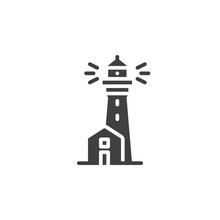 Lighthouse Tower Vector Icon