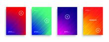 Vivid Colors Dynamic Flow Lines Minimalist Style Brochure Templates White