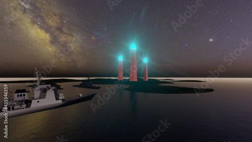 Fotografia obelisk of light in island