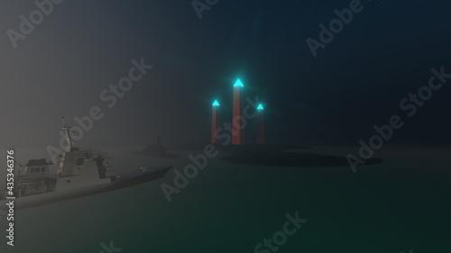 Photo obelisk of light in island
