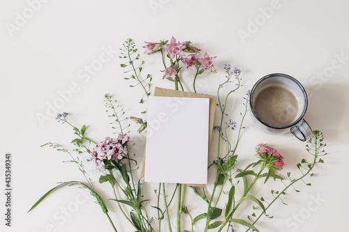 Summer greeting card, invitation mockup Fototapete