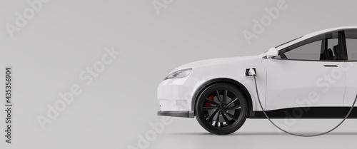 Tableau sur Toile E-mobility, electric car charging battery. 3d rendering