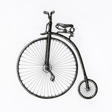 Hand Drawn Penny Farthing Bicycle