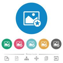 Rank Image Flat Round Icons