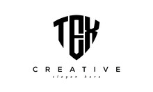 TEX Letters Creative Logo With Shield