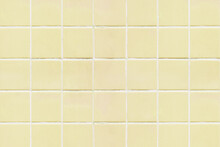 Yellow Square Tiled Texture Background