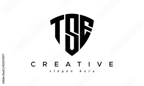 Valokuva TSE letters creative logo with shield