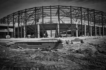Budowa stadionu.