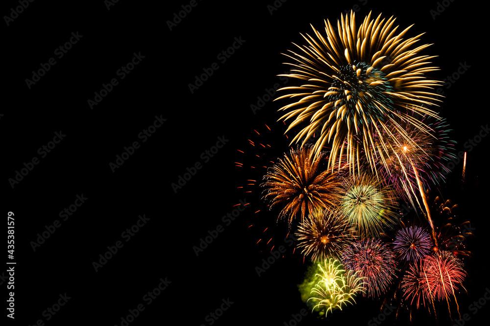 Festival Fireworks on Black backgrounds