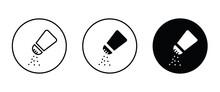Salt Shaker Icon. Icons Button, Vector, Sign, Symbol, Logo, Illustration, Editable Stroke, Flat Design Style Isolated On White Linear Pictogram