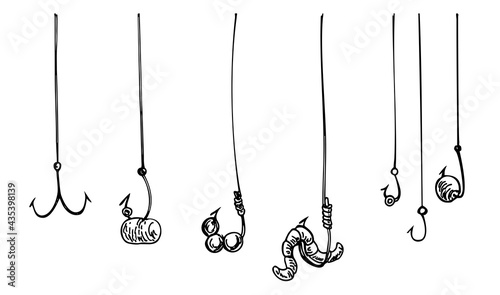 Fotografia Fishing hook with rope