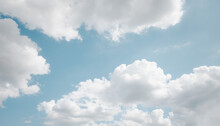 Textured Of Cloud On Blue Sky
