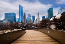 CHICAGO, ILLINOIS, USA- Millennium Park, Chicago,USA
