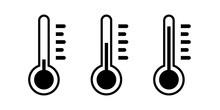 Thermometer Icon Set. Simple Design.