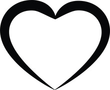 White And Black Heart