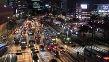 Trafic De Nuit à Séoul