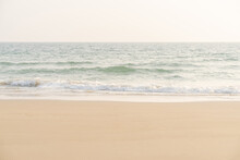 Beach And Sea. Sea And Sand On Tropical Beach For Background.