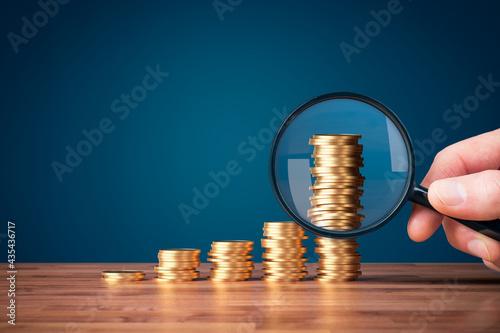 Money makes money investment concept