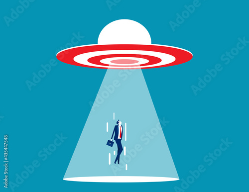 Papel de parede UFO target are sucking people into the spacecraft