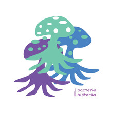 Illustration Mushroom For T-shirt Design, Clothing, Apparel. Logo And Brand Identity.