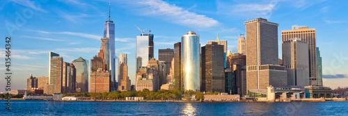Billede på lærred Manhattan skyline panorama at sunset . New York City