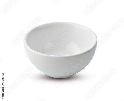 White ceramic bowl isolated on white background Fototapet