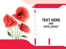 Flower Table Calendar Layout, Table Calendar Design.