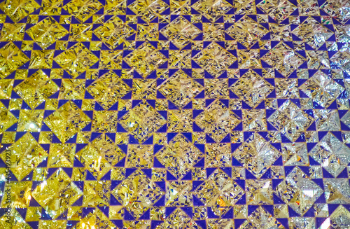 Платно Details of mirror wall in Imam zadeh Jafar Shrine, Yazd, Iran