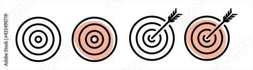 Fotografering Goal, Archery icon,  Set of goals, Target icon, Target, call, goal icon, Vector,