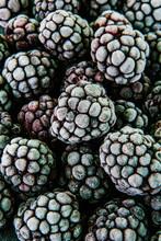 Frozen Blackberries With Frost