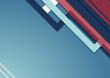 Abstrakcyjne niebieskie tło - geometryczne kształty z czerwonymi paska. Szablon z miejscem na Twój tekst, produkt, tapeta, ilustracja dla social media story, internetowe projekty, aplikacje mobilne.
