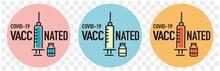 Covid-19 Vaccinated Guarantee Icon Signage
