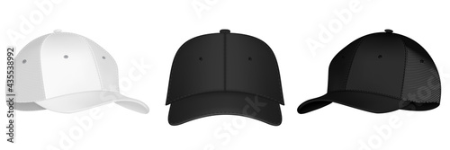 Stampa su Tela Vector baseball cap front and side view