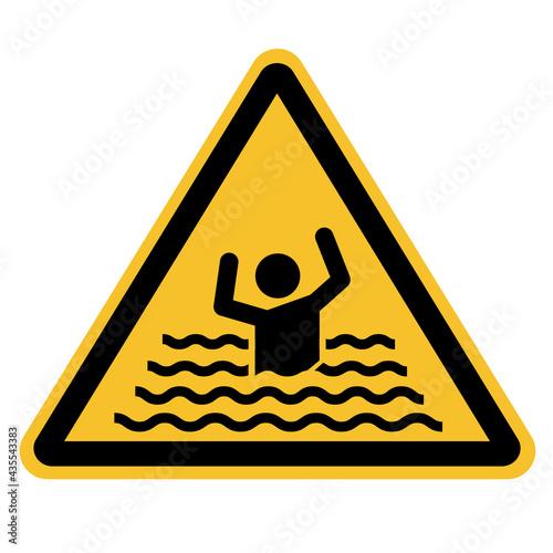 Wallpaper Mural swim forbidden icon on white background