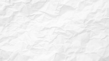 White Paper Texture Background. Crumpled White Paper Abstract Shape Background With Space Paper Recycle For Text