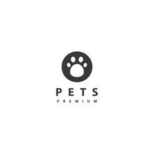 Pets Logo Vector Icon Design Illustration