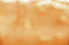 Warm Orange Background With Bokeh