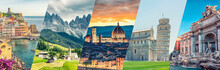 Italy Famous Landmarks Collage