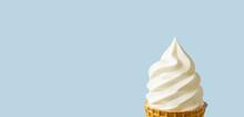 Close Up Of Soft Serve Ice Cream. ソフトクリームのクローズアップ