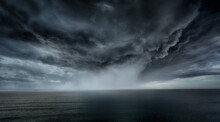 Stormy Clouds And Rain With Dramatic Sky