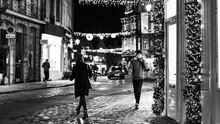 Personnes Dans Les Rues De Lille Pour Noel