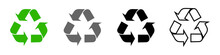 Recycling Icons Set, Recycling Arrows. A Symbol Of Ecology, Naturalness, Purity. Vector Set For Your Design. EPS 10