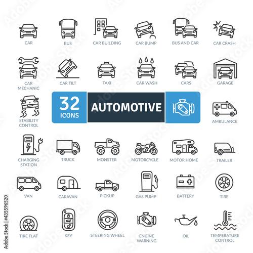 Canvas Print Automotive Icons Pack