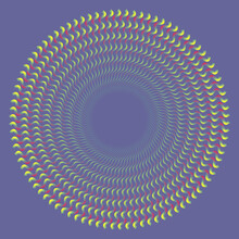 Psychedelic Circle With Color Waves.
